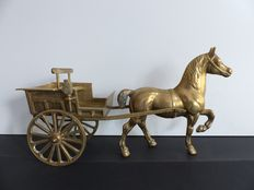 Copper Horse and carriage - Large model