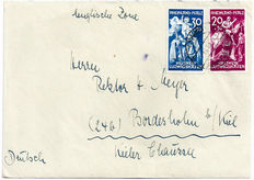 Germany English occupation zone Rheinland-Pfalz Letter with Mi.no. 30/31
