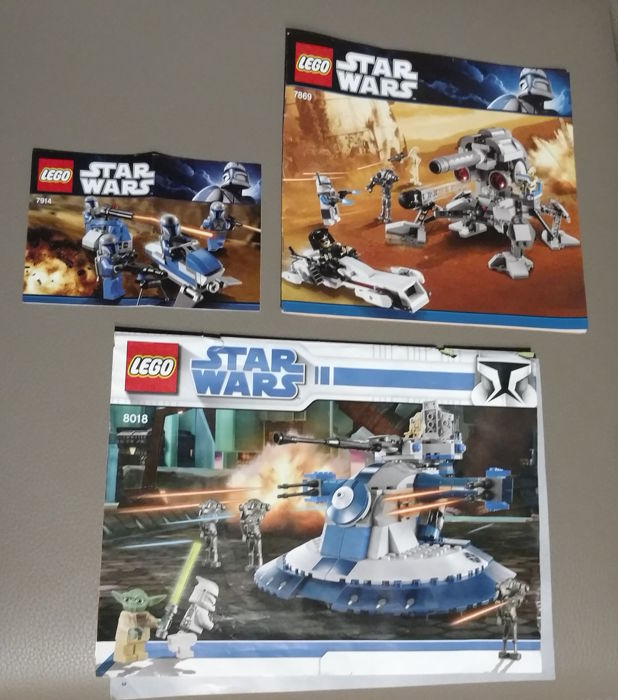 Star Wars - 8018 + 7869 + 7914 - Armored Assault Tank + Battle for Geonosis + Mandalorian Battle Pack