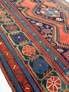 Handmade oriental carpet: Old Kazakh carpet measuring 290 x 160 cm, circa 1900!!!