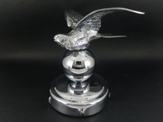 Original Vintage Chrome Bird Mascot Swift Bird Mascot Desmo Registration Mark Mounted on Chrome Radiator Cap
