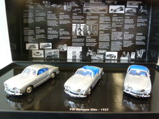 Minichamps - Scale 1/43 - Set with 3 x VW Volkswagen Karmann Ghia - '20 Years Minichamps'