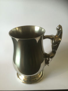 jaguar handle pewter tankard