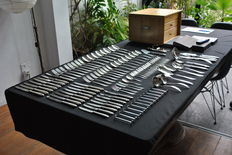 Gero silver plated 90 cutlery 8-person i.a. in cassette, total of 95 pieces, design Dick Simonis