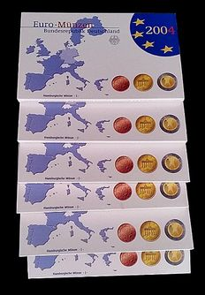 Germany – Euro packs 2004 J (6 pieces)