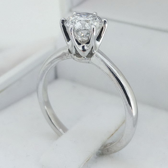 Wedding Ring Resize: IGL 1.13 Ct D/SI1 Round Diamond Engagement Solitaire Ring