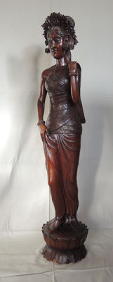 Large wood carving of a woman - Bali - Indonesia