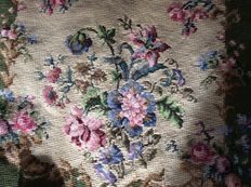 Embroidered upholstery for an armchair - the Netherlands - 20th century