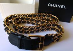 Chanel – Leather and gold-plated metal belt