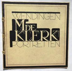 Wendingen; (H.Th. Wijdeveld, design and layout) - M. de Klerk, Portretten - Series 6, issue 7 - 1924