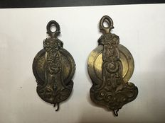 2 adjustable chandelier pulleys - early 20th century