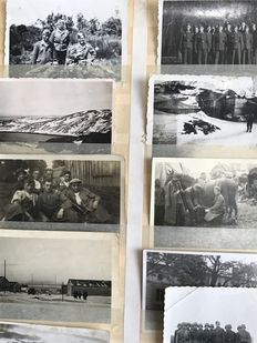WW II Lot of 87 photos about the campaign in Norway Trondheim - German military service Norway, parade, tanks, wagons...