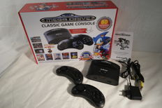 Sega Mega Drive - Classic Game Console - with 80 built- in games..