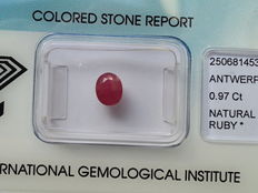 Ruby, 0.97 ct, no reserve price
