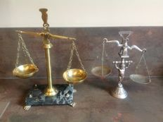 """Lot of 3 old """"decorative"""" scales"""