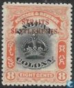 Crown, with overprint