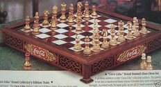 Franklin Mint - Coca Cola Chess - Tiffany Style - Gold