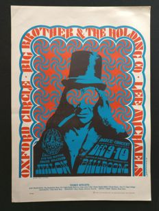 1966 Poster - Janis Joplin - Big Brother and the Holding Company