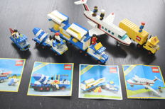 Classic Town - 6656 + 6682 + 6367 + 6368 + 6992 - including Jet Airliner + Semi Truck