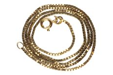 Yellow gold Venetian necklace of 14 kt