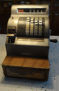 "Old cash register brand ""Le National"", early 20th century"