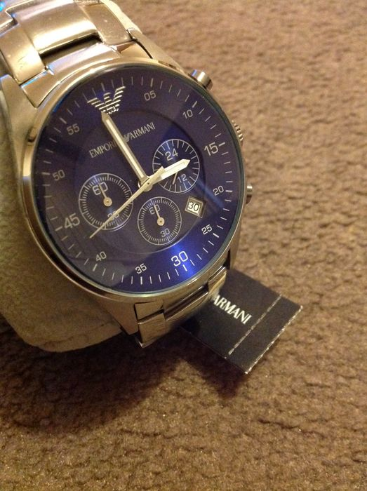 1fdce4637e2 Emporio Armani AR5860 Steel Blue Chronograth Men s watch - Catawiki