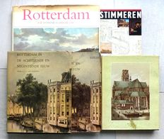 Rotterdam; Lot with 4 editions about Rotterdam beginning in the 17th century - 1974 / 1990