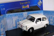 Revell - Scale 1/18 - Fiat 600D - White