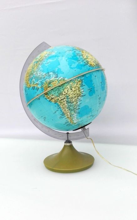 Vintage globe with illumination - 70/80's