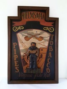 Wooden sign - Helsman 3D - late 20th century.