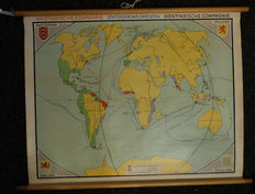 West India Compagnie voyages of East India Company -school map