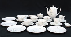 Rosenthal - Coffee/tea set for 6 persons, model Fortuna, decoration: Frühlingslied by Elsa Fischer-Treyden