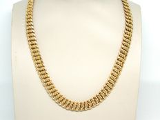 Gold necklace, 18 kt, around 1950-1970