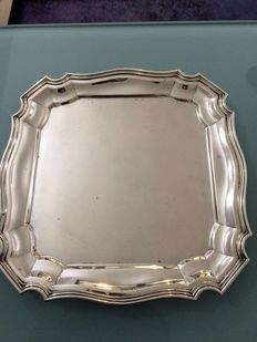 Plate in silver 800 with Vatican punch