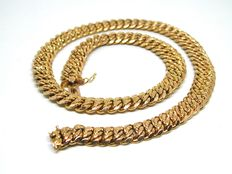 18 kt gold necklace, around 1930-1940