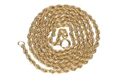 Yellow gold cord necklace of 14 kt