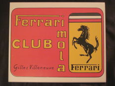 Ferrari Club ceramic badge - Gilles Villeneuve