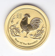 "Australia - 15 dollars 2017 ""Year of the Rooster"" - gold"