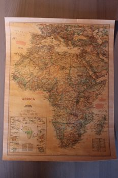 NGS - Large and Detailed map of Africa