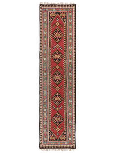 Antique Zarand Kilim from Iran, 443 x 115 cm