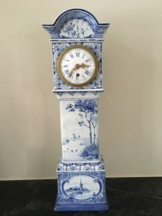 De Porceleyne Fles - Rare large Grandfather Clock.