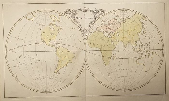 World map jean palairet mappe monde 1755 catawiki world map jean palairet mappe monde 1755 gumiabroncs Image collections