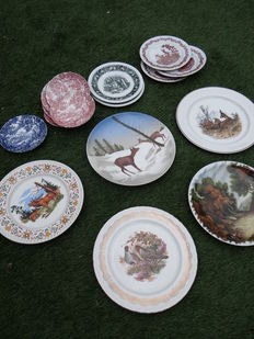Lot with 16 hunting related (wall) plates