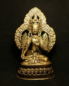 Jewelled Bronze Avalokitesvara- Nepal - second half 20th century