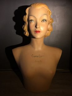Bust of advertising model Novita, second half of the 20th century