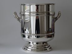Silver plated Christofle Champagne bucket or wine cooler Malmaison