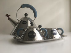 Michael Graves for Alessi - Kettle, milk jug and sugar bowl