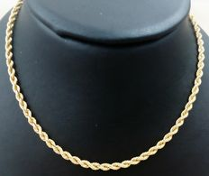 18 kt/750 yellow gold cord of 13.50 g