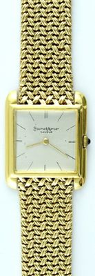 BAUME AND MERCIER (Genève). Men's wrist watch. Ca. 1960.