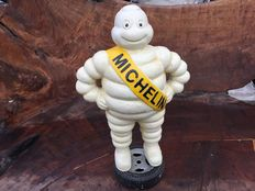 Michelin Man Standing on Tyre Old Looking Style